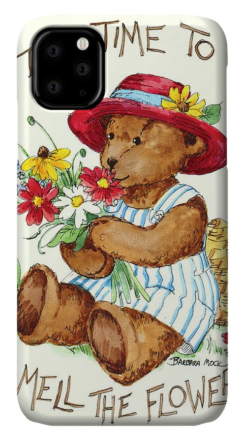Take Time IPhone Case featuring the painting 3067 Take Time by Barbara Mock