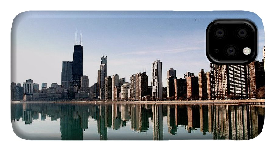 Lake Michigan IPhone Case featuring the photograph Chicago Skyline by J.castro