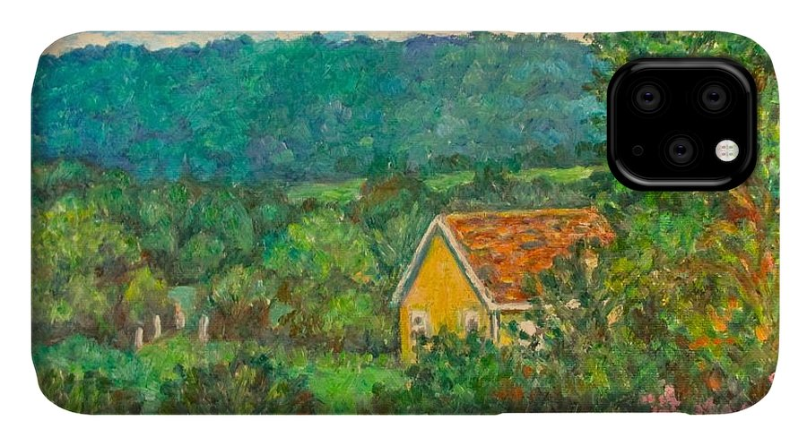 Landscape IPhone Case featuring the painting 460 by Kendall Kessler