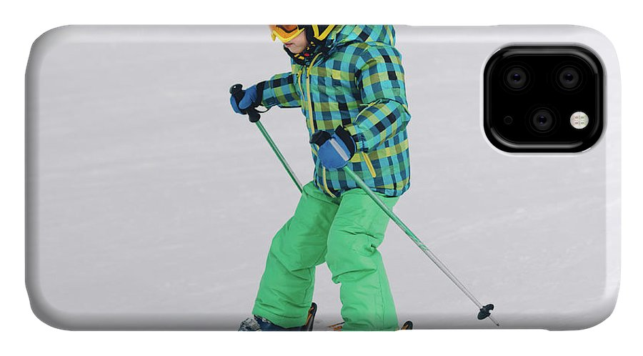 Skiing IPhone Case featuring the photograph Boy Skiing by Microgen Images/science Photo Library