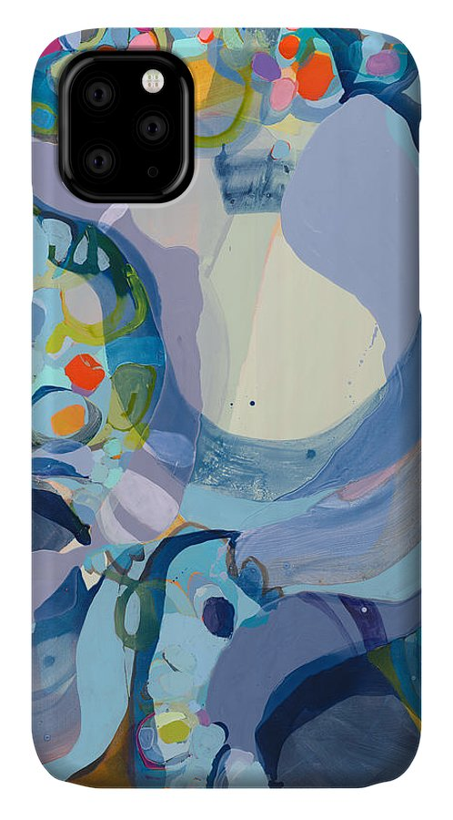 Abstract IPhone 11 Case featuring the painting 70 Degrees by Claire Desjardins