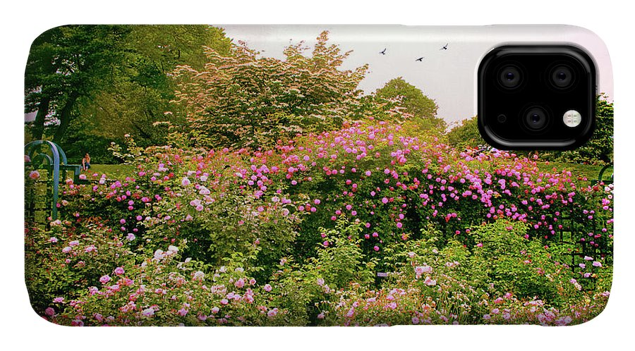 New York Botanical Garden IPhone Case featuring the photograph Rose Garden Greeting by Jessica Jenney