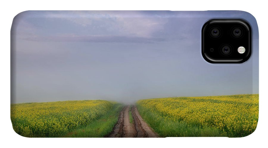 Square IPhone 11 Case featuring the photograph A Muddy Trail by Dan Jurak