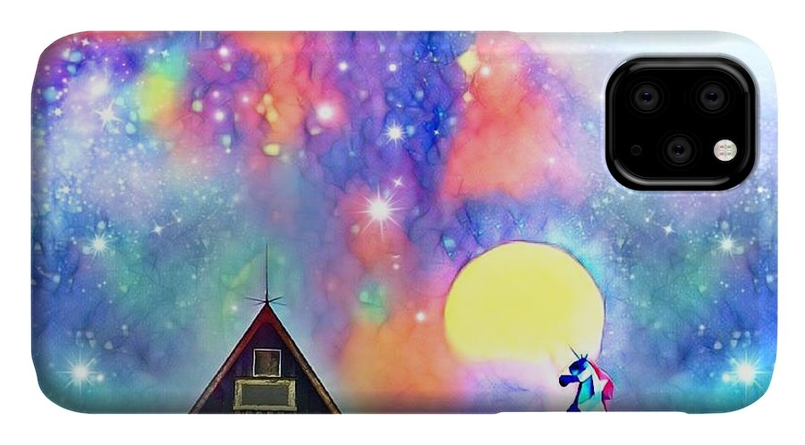 IPhone Case featuring the digital art Abode of the Artificial-Dreamer Zero by Sureyya Dipsar