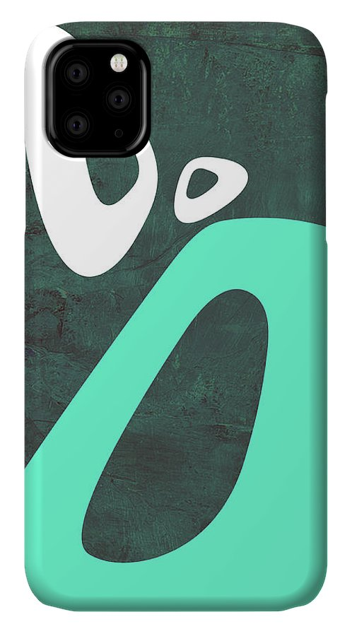 Abstract IPhone Case featuring the painting Abstract Oval Shape Iv by Naxart Studio