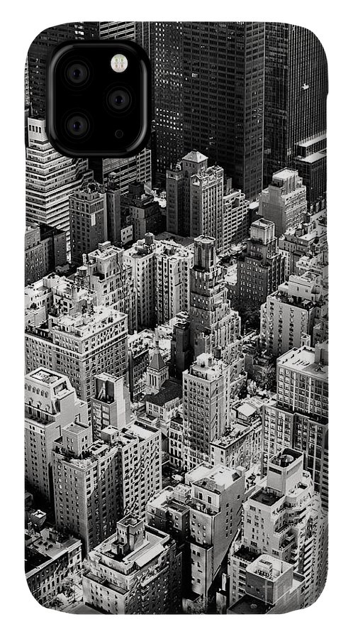Big IPhone Case featuring the photograph Aerial View Of Manhattan, New York by Luciano Mortula - Lgm