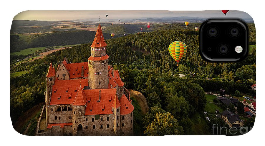 Magic IPhone 11 Case featuring the photograph Aerial View On Romantic Fairy Castle by Martin Mecnarowski