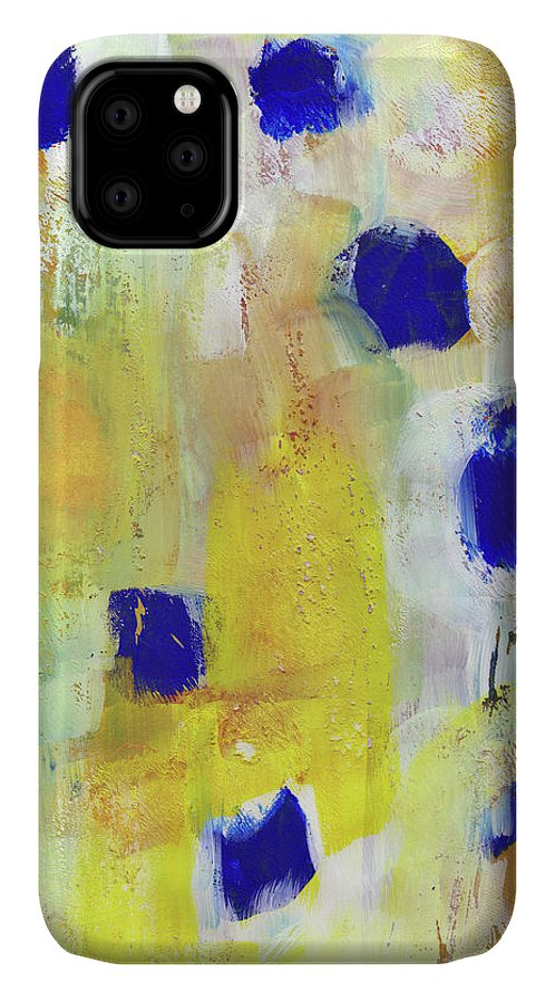 Abstract IPhone Case featuring the painting Afternoon Sun 2 Art By Linda Woods by Linda Woods