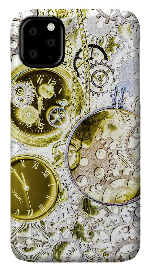 Machine IPhone 11 Case featuring the photograph Age Of Circular Machines by Jorgo Photography - Wall Art Gallery