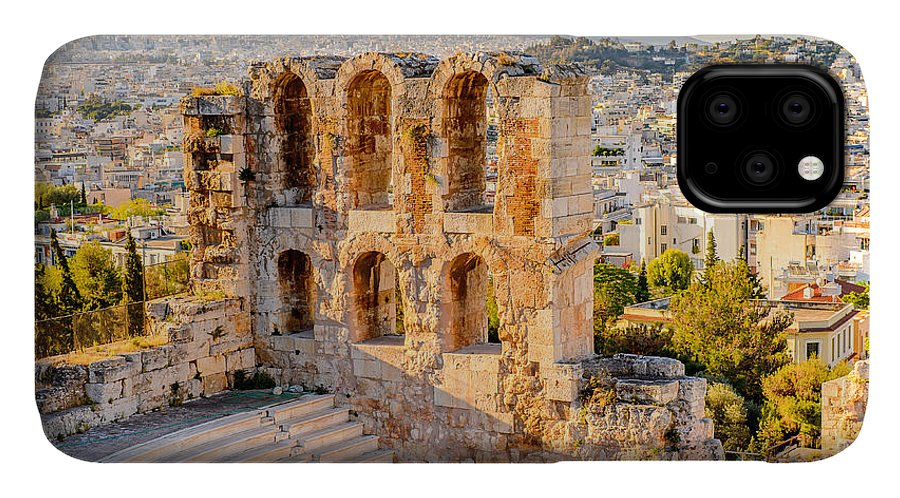 Capital IPhone Case featuring the photograph Amphitheater Of The Acropolis Of by Anton ivanov