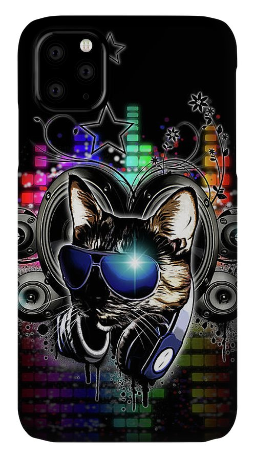 Cool IPhone Case featuring the digital art Drop The Bass by Nicklas Gustafsson