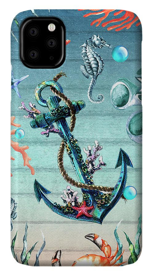 Sea Life IPhone Case featuring the digital art Tropical Island by Mark Ashkenazi