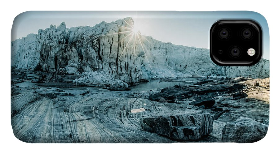 Sunrise IPhone 11 Case featuring the photograph Awesome Sunrise Over The Glacier In The by Petrjanjuracka
