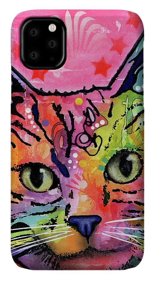 Beast IPhone Case featuring the mixed media Beast by Dean Russo