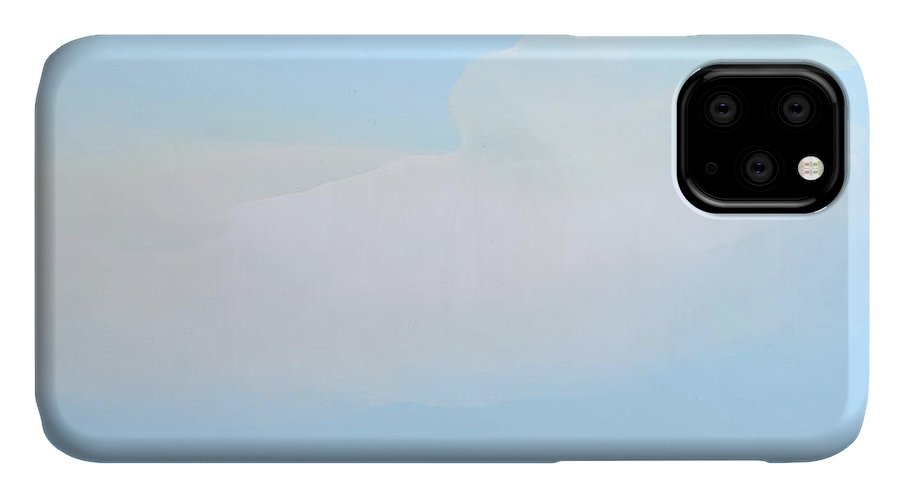 Abstract IPhone 11 Case featuring the painting Blue Skies Ahead by Claire Desjardins