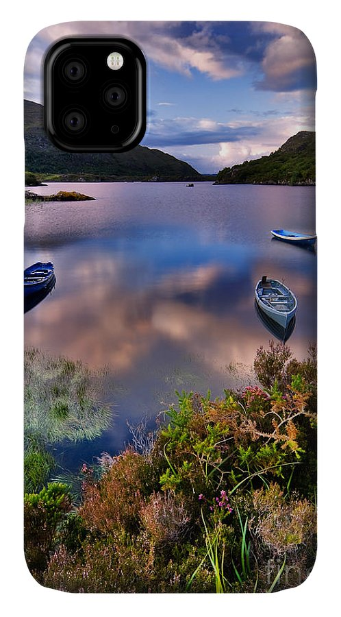 Pond IPhone Case featuring the photograph Boats On Water In Killarney National by Tiramisu Studio