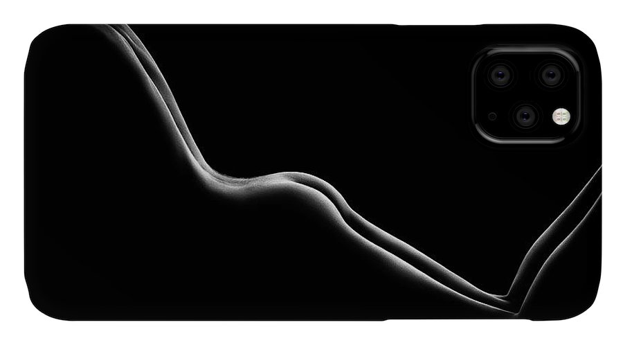 Nude IPhone Case featuring the photograph Bodyscape nude woman buttocks by Johan Swanepoel