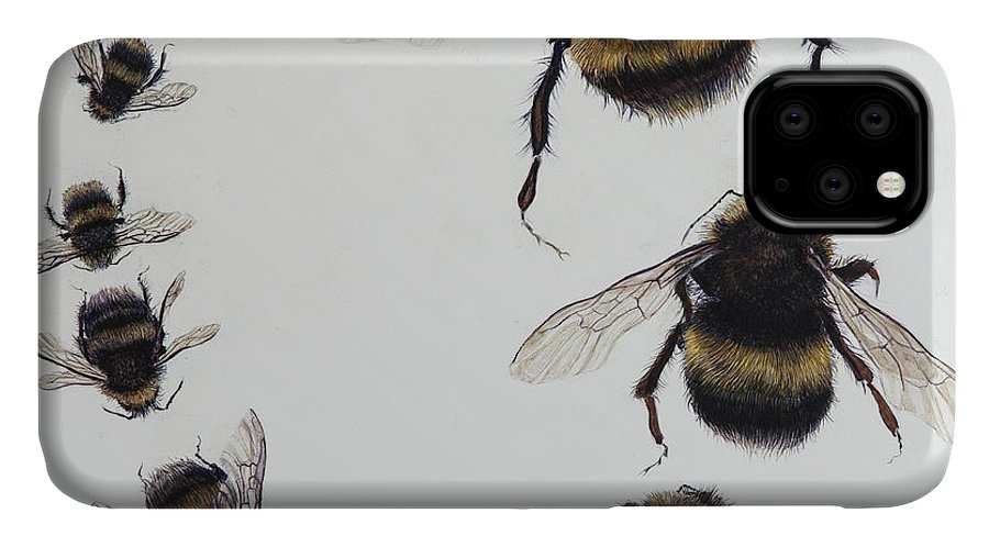 Nature IPhone Case featuring the painting Bombus by Odile Kidd