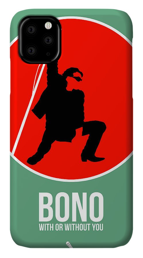 U2 IPhone Case featuring the digital art Bono by Naxart Studio