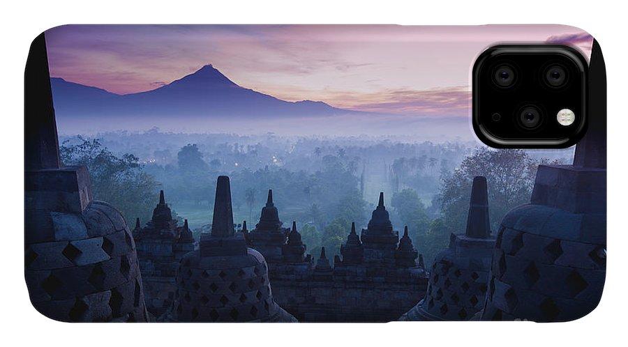 Civilization IPhone 11 Case featuring the photograph Borobudur Temple, Yogyakarta, Java by Pigprox