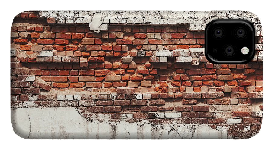 Tranquility IPhone Case featuring the photograph Brick Wall Falling Apart by Ty Alexander Photography