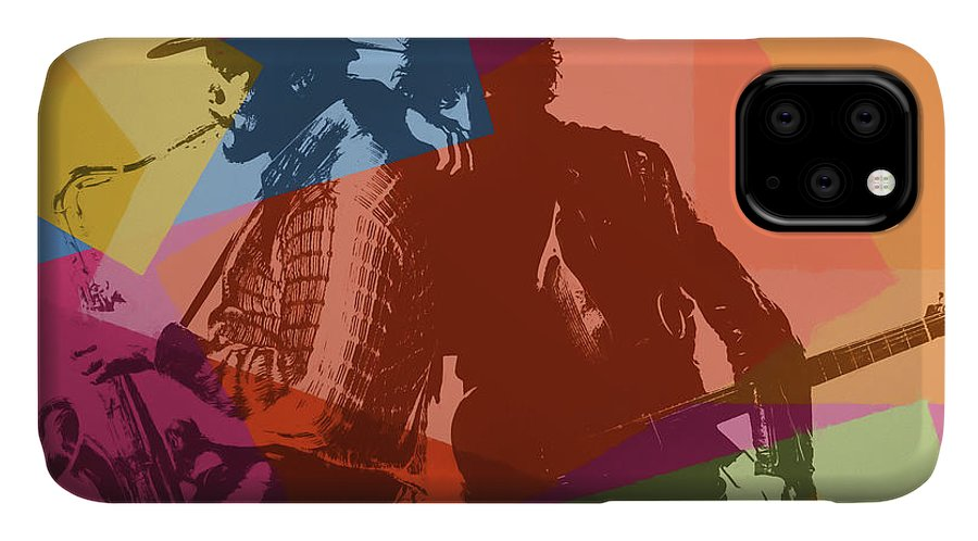 Pop Art IPhone Case featuring the painting Bruce And The Big Man Pop Art by Dan Sproul