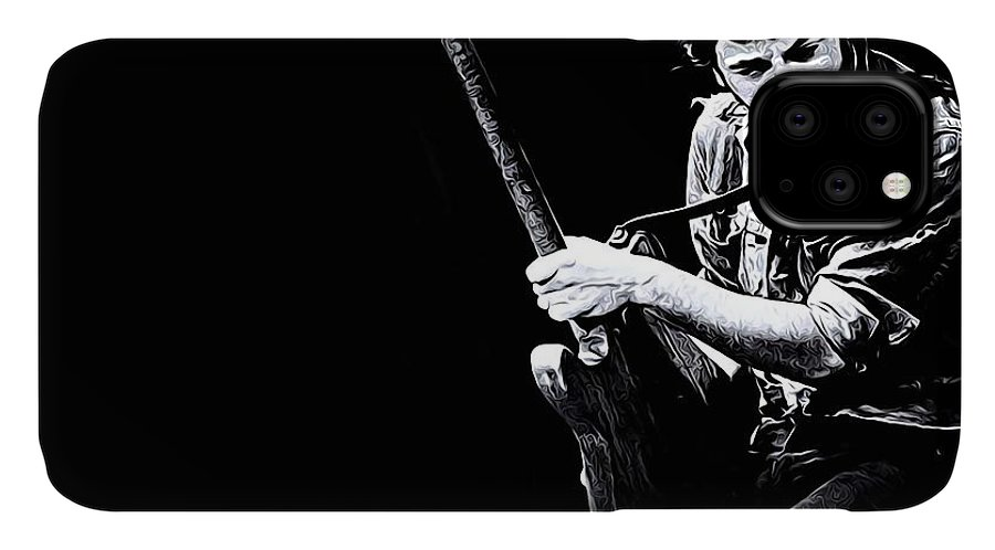 Bruce Springsteen IPhone Case featuring the digital art Bruce Springsteen by Queso Espinosa