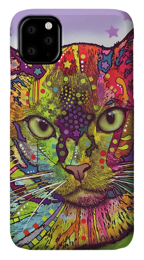 Burmese IPhone Case featuring the mixed media Burmese by Dean Russo