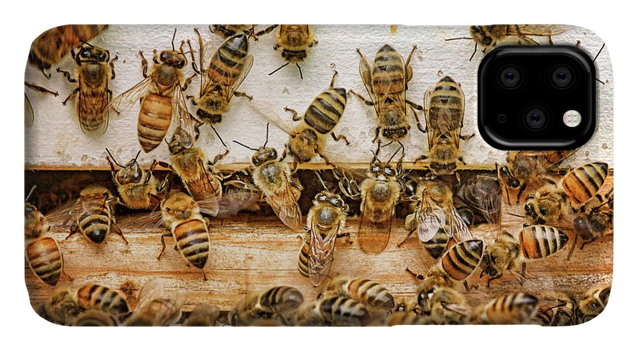 Bees IPhone Case featuring the photograph Busy Day - Bees by Nikolyn McDonald