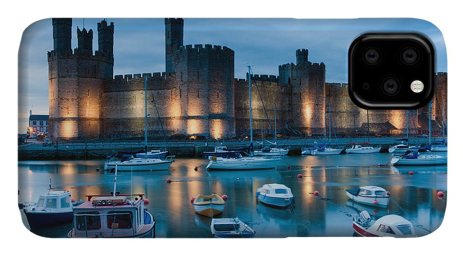 Tide IPhone 11 Case featuring the photograph Caernarfon Castle , North Wales by Stocker1970