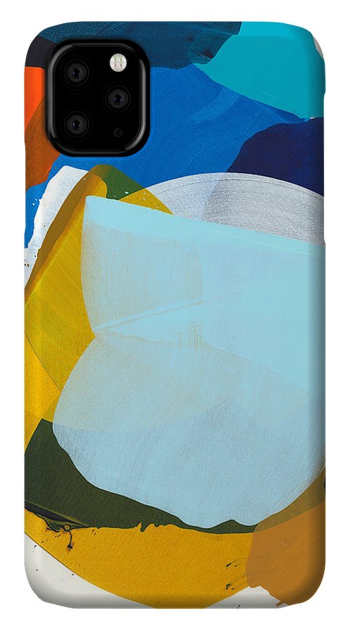 Abstract IPhone 11 Case featuring the painting California 05 by Claire Desjardins