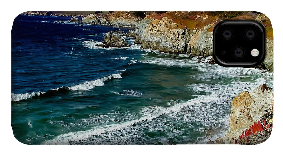California IPhone 11 Case featuring the photograph California Coast In Mendocino County by G Matthew Laughton