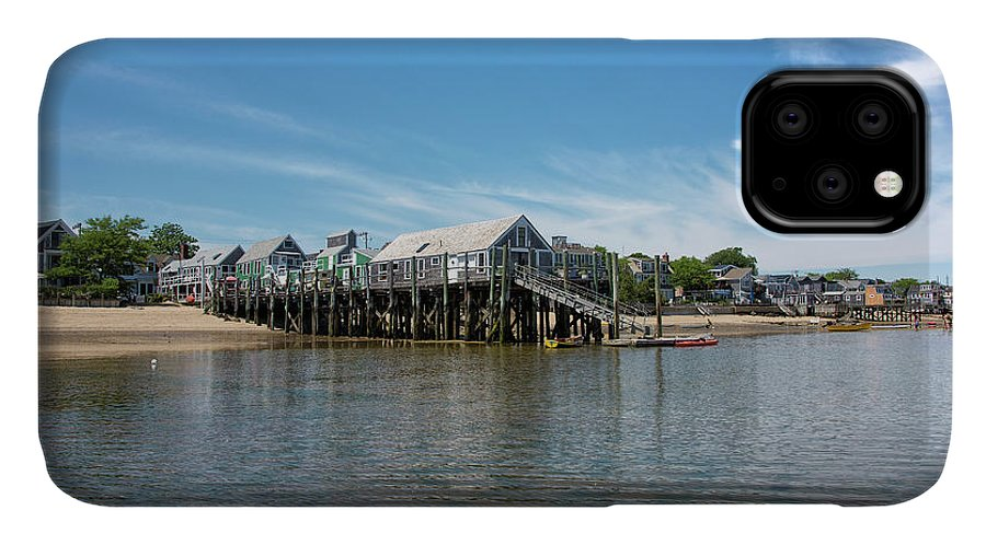Provincetown IPhone 11 Case featuring the photograph Captain Jack's Wharf - Provincetown Harbor - Massachusetts by Brendan Reals