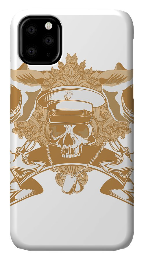 Halloween IPhone Case featuring the digital art Captain Shark by Passion Loft