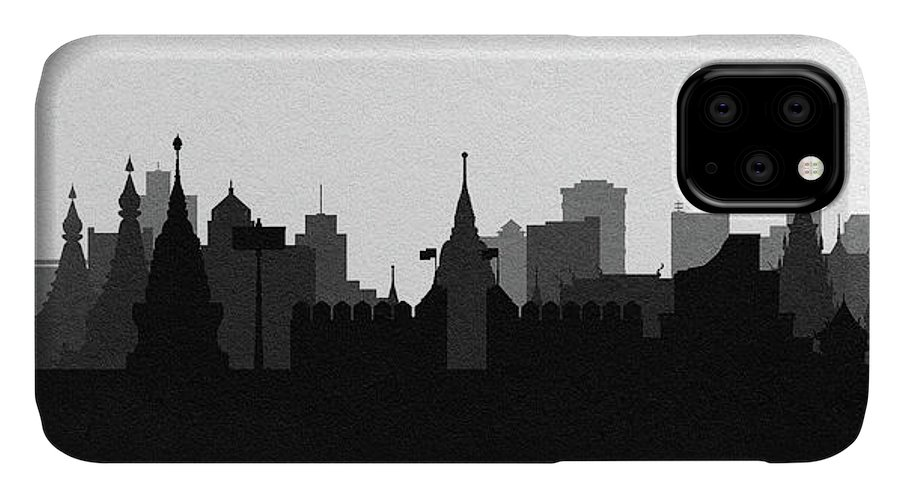 Chiang Mai IPhone Case featuring the digital art Chiang Mai Cityscape Art by Inspirowl Design