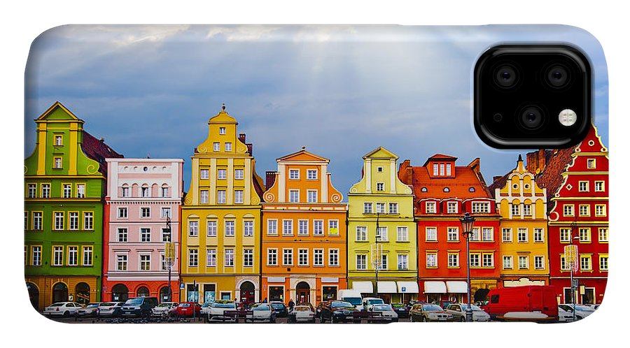 Poland IPhone 11 Case featuring the photograph City Centre, Solny Square Tenements by Pablo77