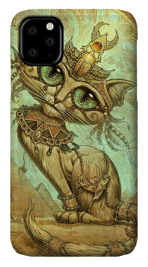 Cleopatra IPhone Case featuring the painting Cleocatra by Jeff Haynie