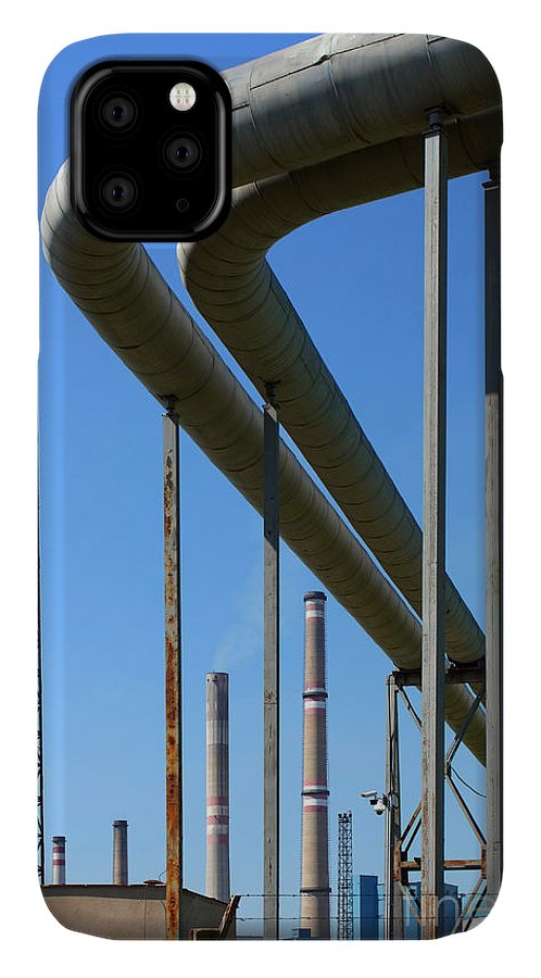 Chimney IPhone 11 Case featuring the photograph Coal Power Plant by Martin33