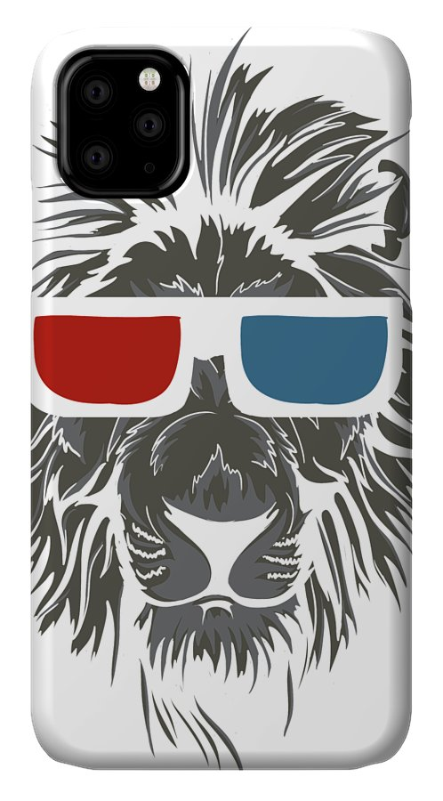 Cat IPhone Case featuring the digital art Cool Lion In 3d Glasses by Passion Loft