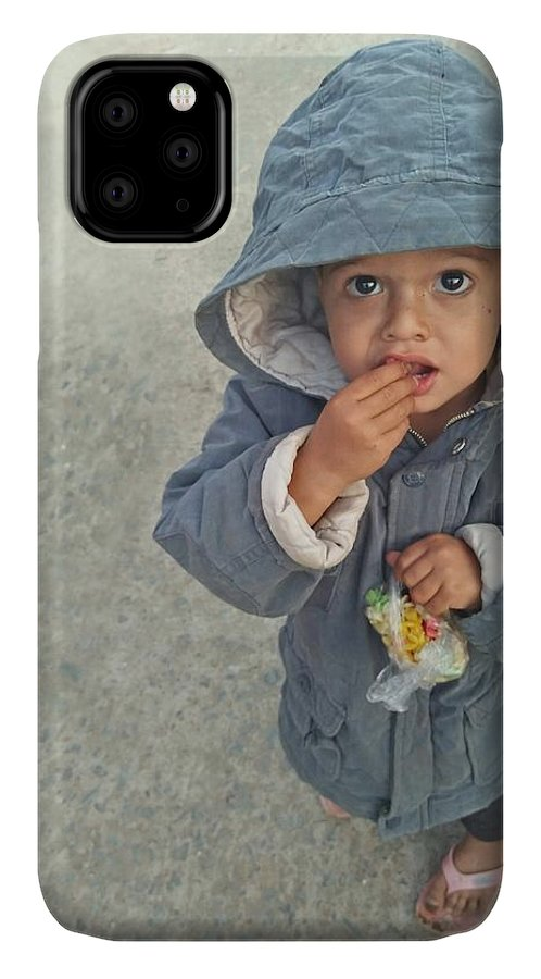 Cute IPhone Case featuring the photograph Cute baby by Imran Khan