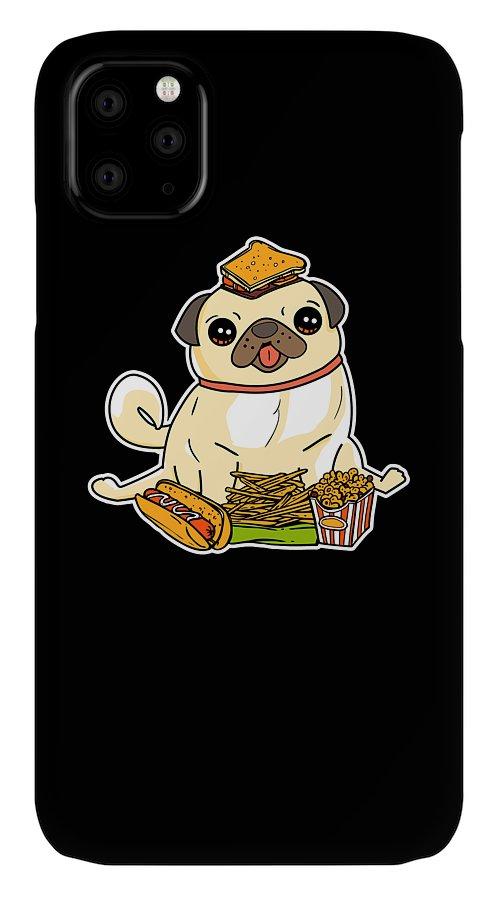 Pug Food 2 iphone case