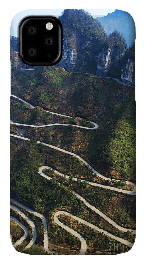 Altitude IPhone 11 Case featuring the photograph Dangerous Path In China by Kataleewan Intarachote