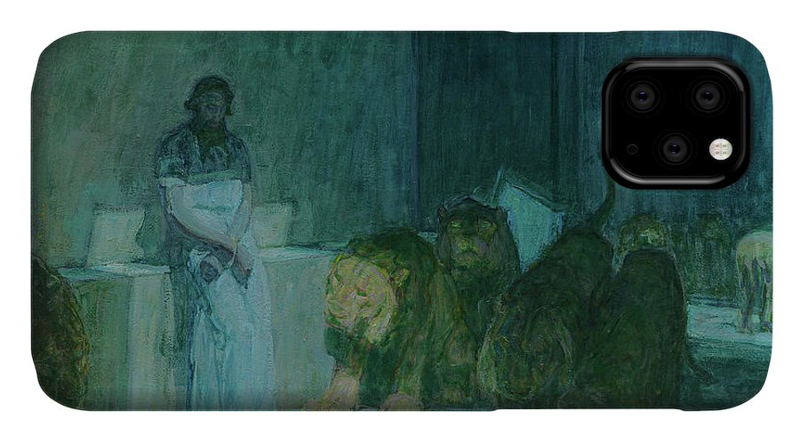 Henry Ossawa Tanner IPhone 11 Case featuring the painting Daniel In The Lions' Den, 1918 by Henry Ossawa Tanner