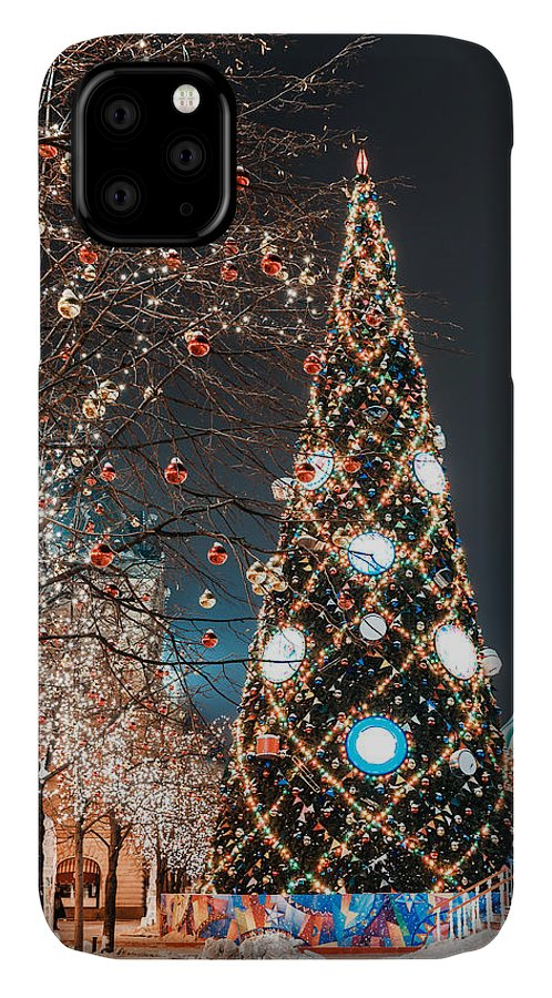 Symbol IPhone Case featuring the photograph Decorations For New Year And Holidays by Mikhail Starodubov