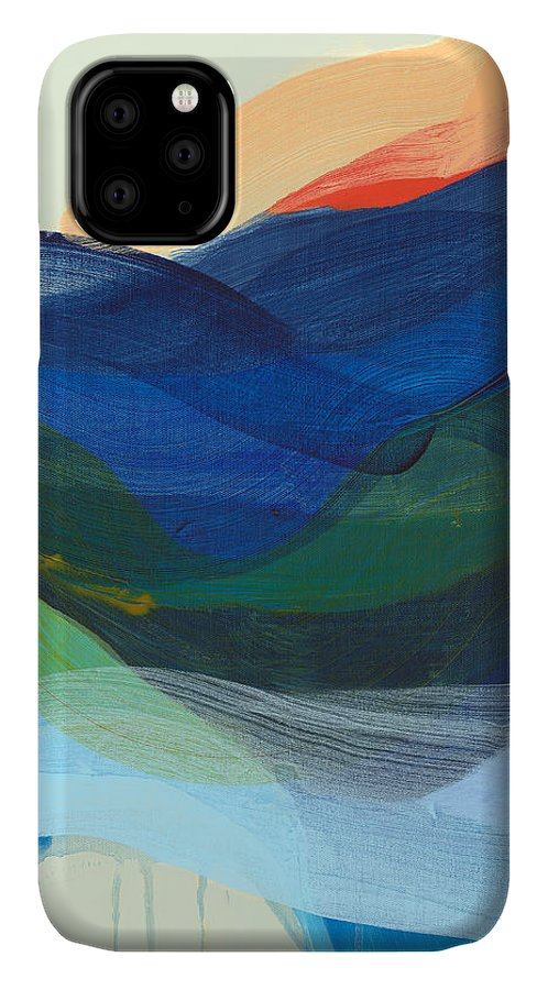 Abstract IPhone 11 Case featuring the painting Deep Sleep Undone by Claire Desjardins