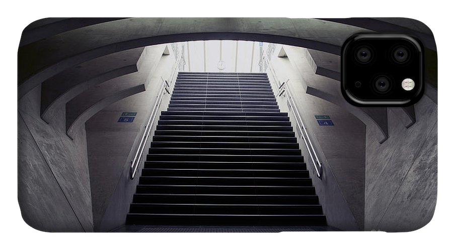 Concrete IPhone Case featuring the photograph Design Stairs To The Arrival And by Mauvries
