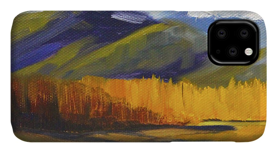 River Landscape Painting IPhone Case featuring the painting Distant River by Nancy Merkle