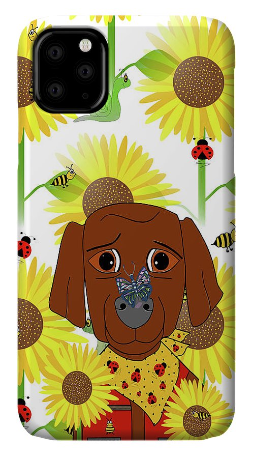 Dog Nature Lover Pattern IPhone Case featuring the mixed media Dog Nature Lover Pattern by Sartoris Art