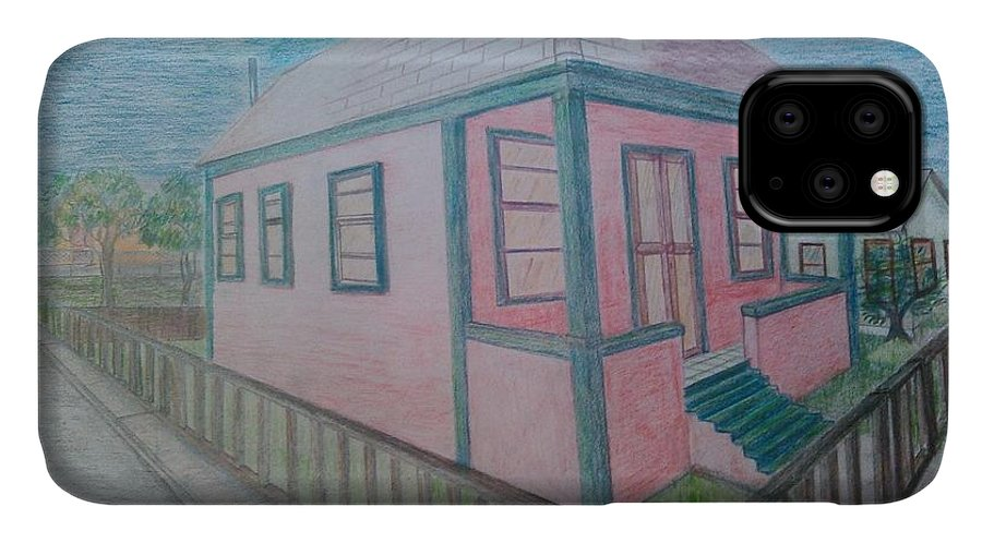 Drawing By Andrew Johnson IPhone Case featuring the drawing Dream Cottage by Andrew Johnson