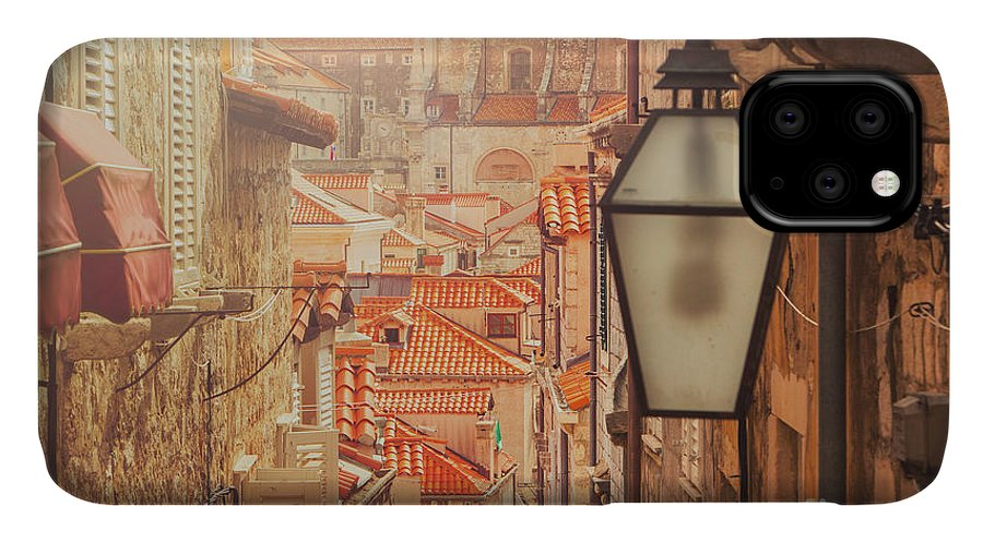 Small IPhone Case featuring the photograph Dubrovnik Old City Street View by Iascic